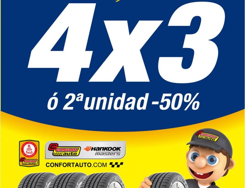 EN CONFORTAUTO 4X3 EN GOODYEAR O 2a UNIDAD AL 50%