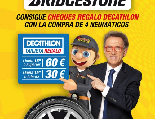 CONFORTAUTO Y BRIDGESTONE REGALAN HASTA 60€ PARA DECATHLON