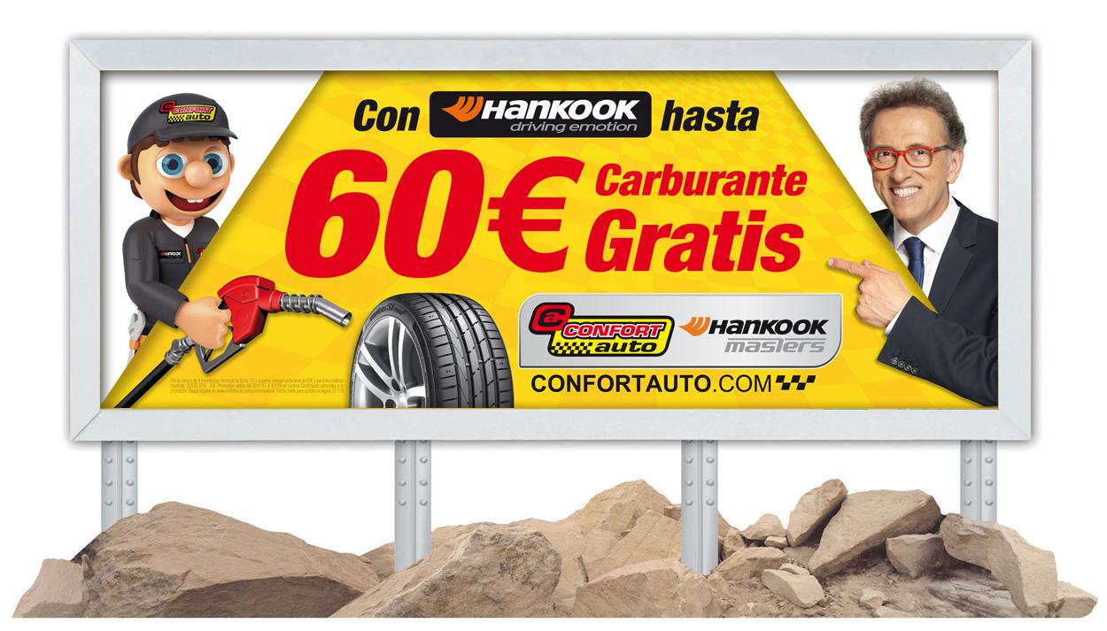 CONFORTAUTO Y JORDI HURTADO REGALAN HASTA 60€ EN COMBUSTIBLE CON HANKOOK