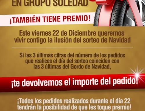 LA LOTERÍA DE NAVIDAD TAMBIÉN TIENE PREMIO EN GRUPO SOLEDAD