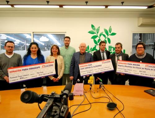 GRUPO SOLEDAD DONA 5100 EUROS A TRES ASOCIACIONES DE ASPE