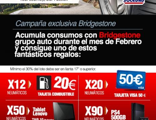 NEUMÁTICOS SOLEDAD PREMIA LA COMPRA DE BRIDGESTONE ENTRE PROFESIONALES