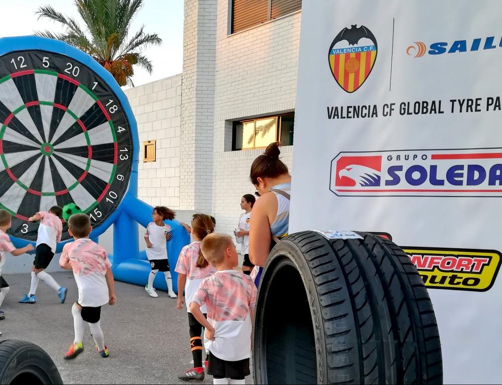Confortauto, Grupo Soledad y Sailun Tyre en la inauguración de la academia del Valencia C.F