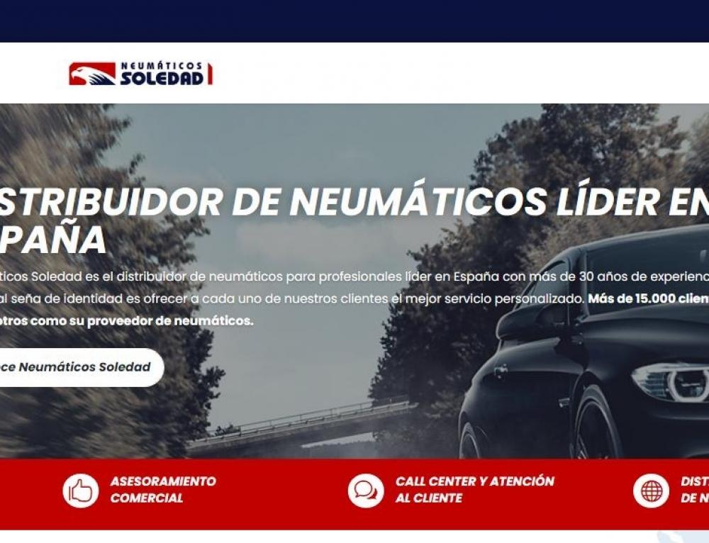 Neumáticos Soledad estrena web